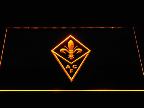ACF Fiorentina LED Neon Sign - Yellow - SafeSpecial