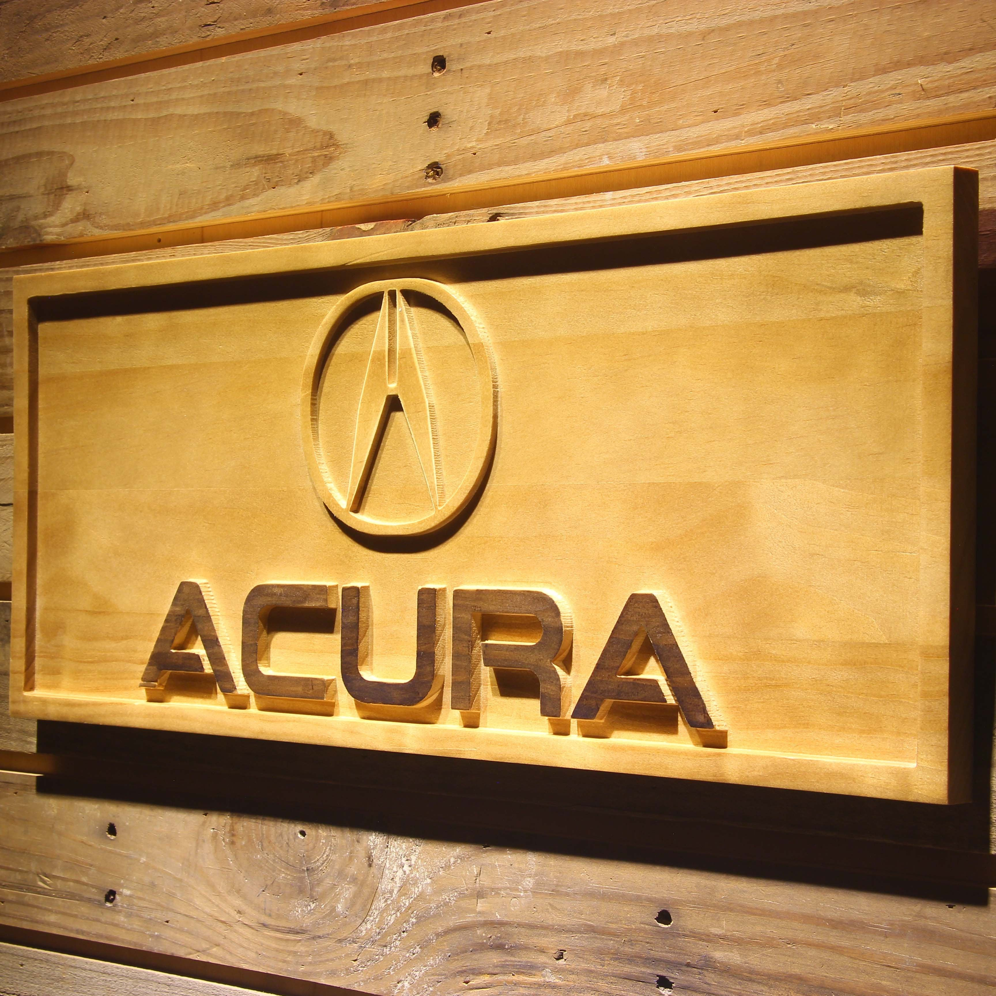 Acura Wooden Sign