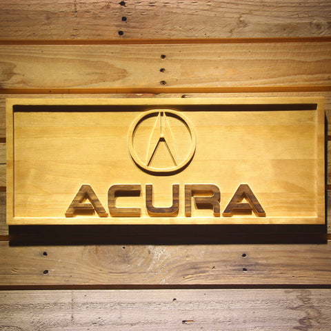 Image of Acura Wooden Sign - Small - SafeSpecial