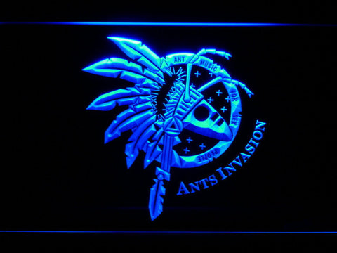 Adam And The Ants Ants Invasion LED Neon Sign - Blue - SafeSpecial