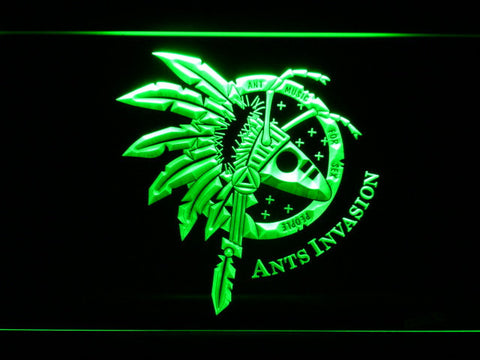 Image of Adam And The Ants Ants Invasion LED Neon Sign - Green - SafeSpecial