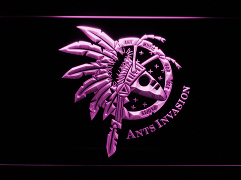 Image of Adam And The Ants Ants Invasion LED Neon Sign - Purple - SafeSpecial
