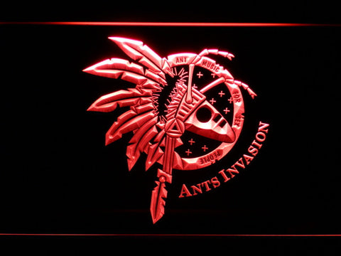 Image of Adam And The Ants Ants Invasion LED Neon Sign - Red - SafeSpecial