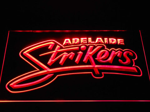 Adelaide Strikers LED Neon Sign - Red - SafeSpecial