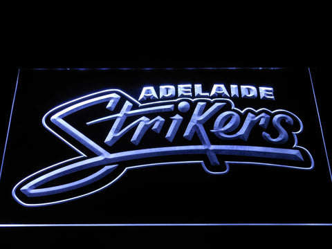 Adelaide Strikers LED Neon Sign - White - SafeSpecial