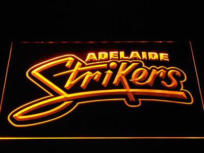 Adelaide Strikers LED Neon Sign - Yellow - SafeSpecial