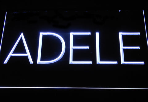 Adele LED Neon Sign - White - SafeSpecial
