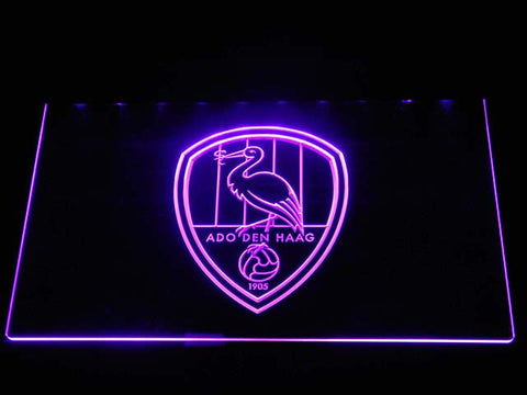 ADO Den Haag LED Neon Sign - Purple - SafeSpecial