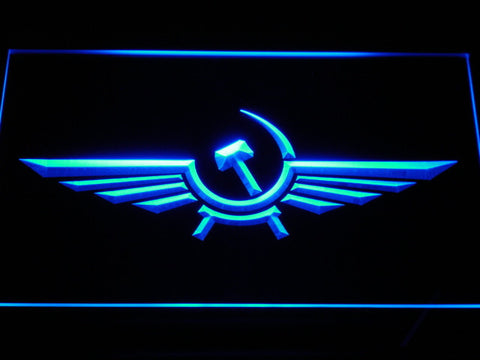 Image of Aeroflot LED Neon Sign - Blue - SafeSpecial