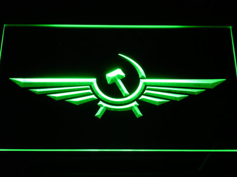 Image of Aeroflot LED Neon Sign - Green - SafeSpecial