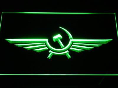 Aeroflot LED Neon Sign - Green - SafeSpecial