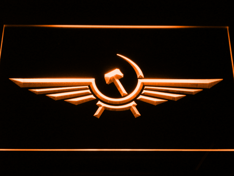 Image of Aeroflot LED Neon Sign - Orange - SafeSpecial