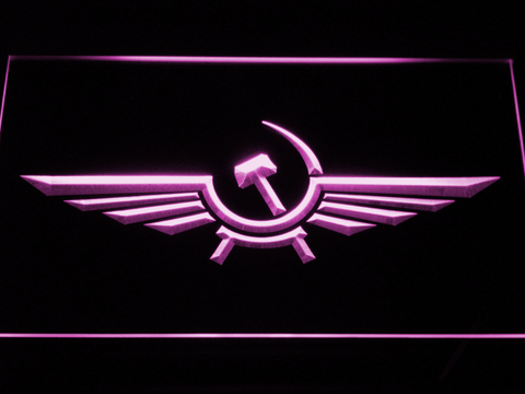 Image of Aeroflot LED Neon Sign - Purple - SafeSpecial