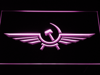 Aeroflot LED Neon Sign - Purple - SafeSpecial