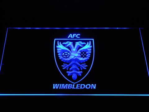 Image of AFC Wimbledon LED Neon Sign - Blue - SafeSpecial