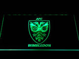 AFC Wimbledon LED Neon Sign - Green - SafeSpecial