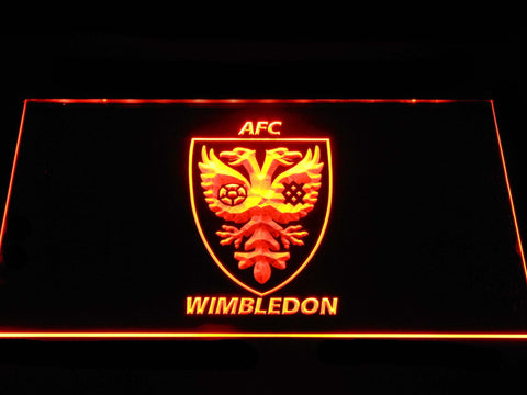 AFC Wimbledon LED Neon Sign - Orange - SafeSpecial