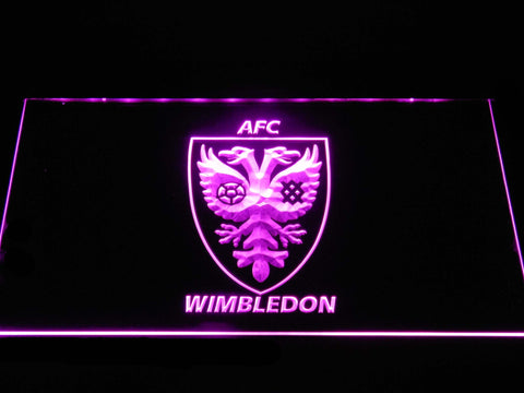 Image of AFC Wimbledon LED Neon Sign - Purple - SafeSpecial