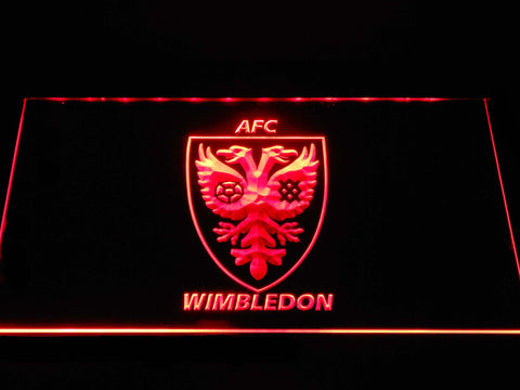Image of AFC Wimbledon LED Neon Sign - Red - SafeSpecial