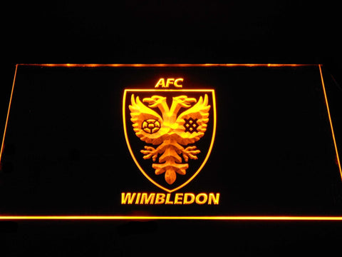 Image of AFC Wimbledon LED Neon Sign - Yellow - SafeSpecial