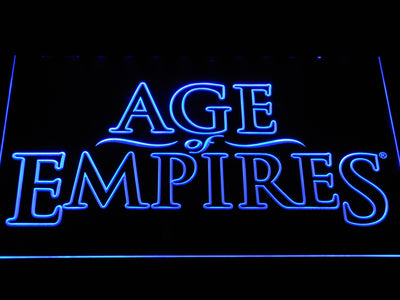 Age Of Empires LED Neon Sign - Blue - SafeSpecial