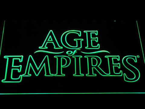 Age Of Empires LED Neon Sign - Green - SafeSpecial