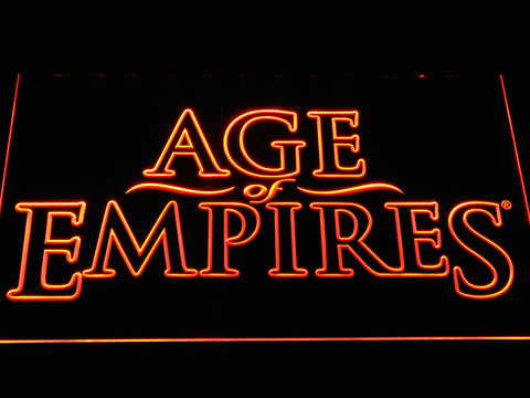 Image of Age Of Empires LED Neon Sign - Orange - SafeSpecial
