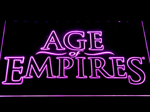 Age Of Empires LED Neon Sign - Purple - SafeSpecial