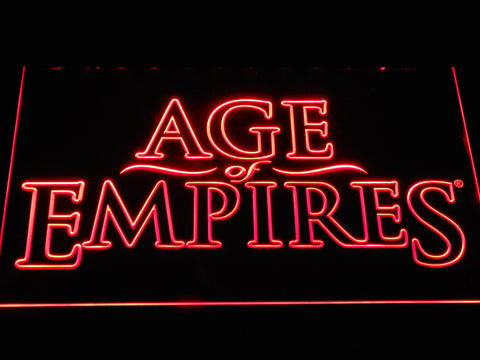 Image of Age Of Empires LED Neon Sign - Red - SafeSpecial