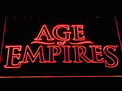 Age Of Empires LED Neon Sign - Red - SafeSpecial