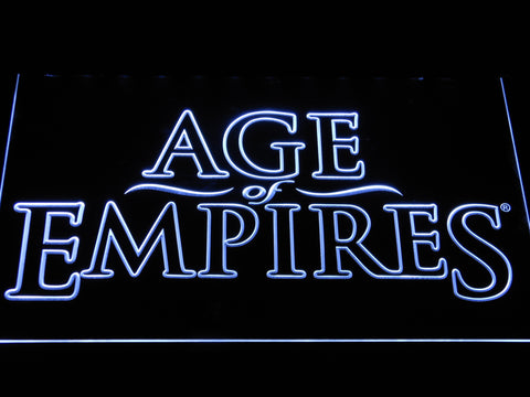 Image of Age Of Empires LED Neon Sign - White - SafeSpecial