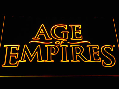 Age Of Empires LED Neon Sign - Yellow - SafeSpecial