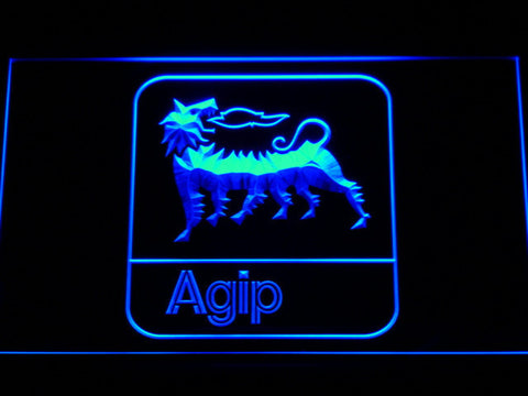 Agip LED Neon Sign - Blue - SafeSpecial