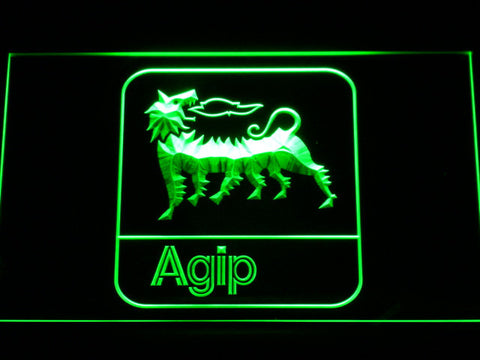 Agip LED Neon Sign - Green - SafeSpecial