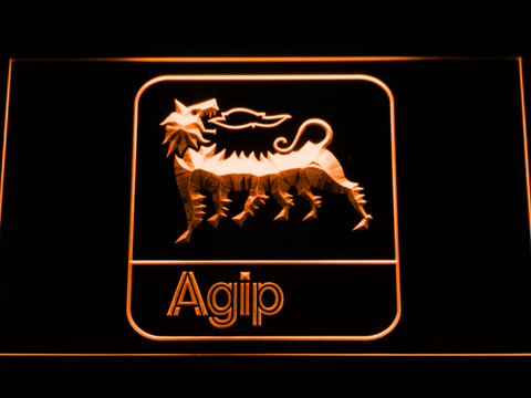 Agip LED Neon Sign - Orange - SafeSpecial