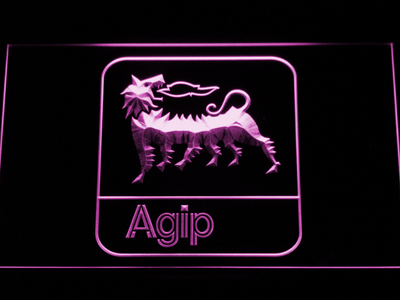 Agip LED Neon Sign - Purple - SafeSpecial