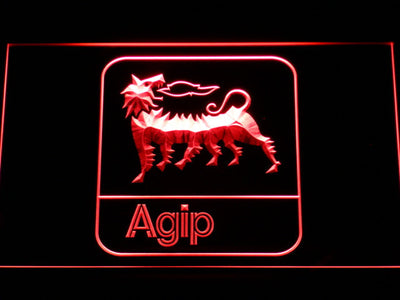 Agip LED Neon Sign - Red - SafeSpecial
