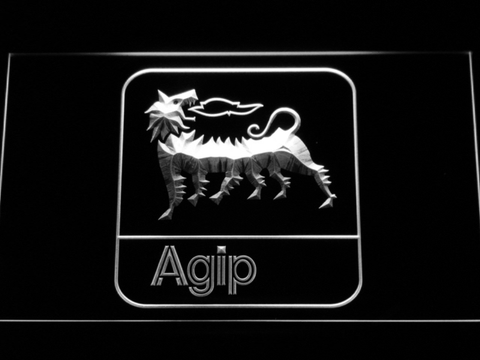 Image of Agip LED Neon Sign - White - SafeSpecial