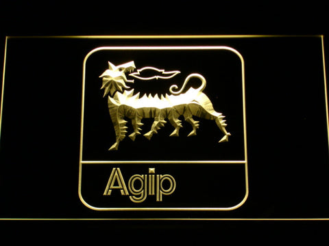 Image of Agip LED Neon Sign - Yellow - SafeSpecial