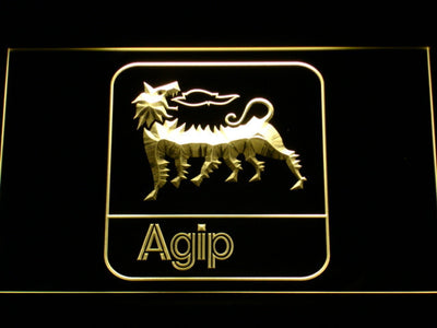 Agip LED Neon Sign - Yellow - SafeSpecial