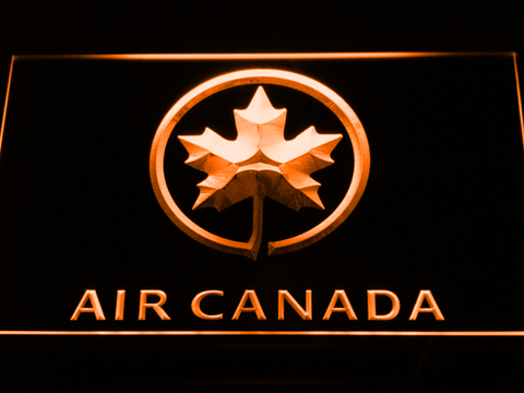 Image of Air Canada LED Neon Sign - Orange - SafeSpecial