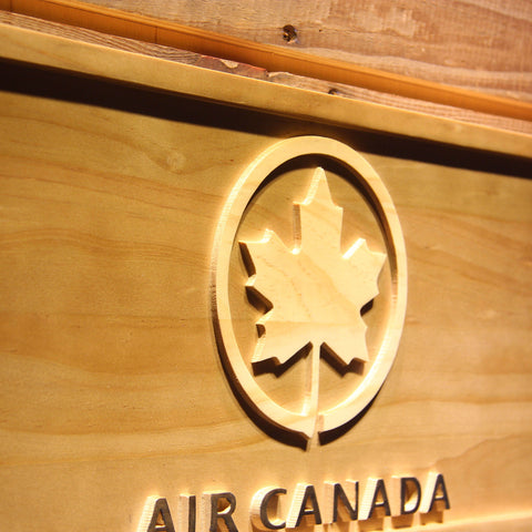 Image of Air Canada Wooden Sign - - SafeSpecial