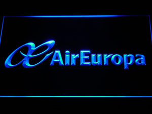 Air Europa LED Neon Sign - Blue - SafeSpecial