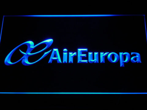 Image of Air Europa LED Neon Sign - Blue - SafeSpecial