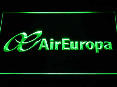Image of Air Europa LED Neon Sign - Green - SafeSpecial
