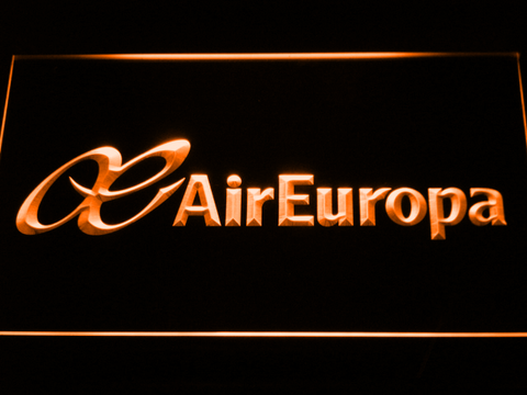 Air Europa LED Neon Sign - Orange - SafeSpecial