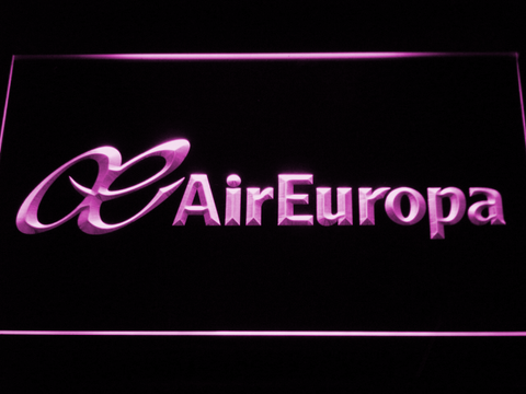 Air Europa LED Neon Sign - Purple - SafeSpecial