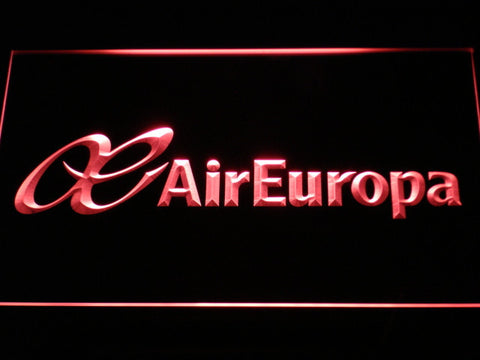 Image of Air Europa LED Neon Sign - Red - SafeSpecial