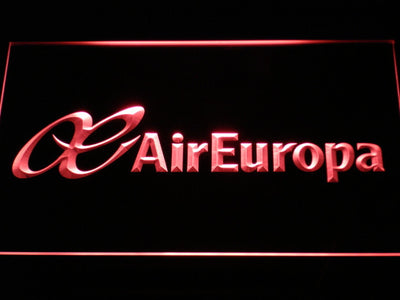 Air Europa LED Neon Sign - Red - SafeSpecial