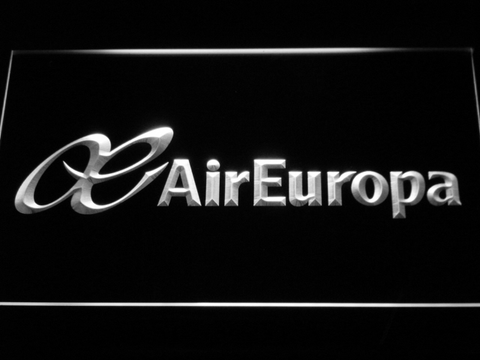 Image of Air Europa LED Neon Sign - White - SafeSpecial